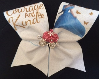 DISNEY INSPIRED CINDERELLA Cheer Bow