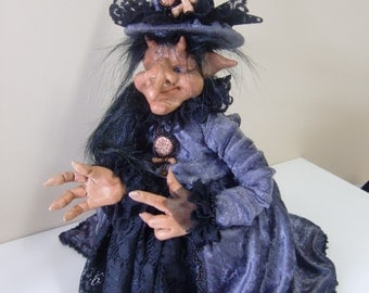 Saphira posable OOAK art doll witch