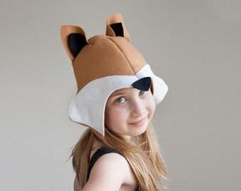 Fox PATTERN DIY costume mask girl sewing tutorial creative play woodland animal ideas kids baby children easter holiday Purim Halloween gift