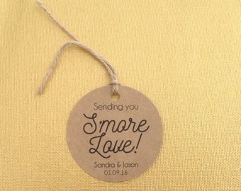 Smore Wedding Favor, Wedding Favor, Smore Favor Tags, Wedding Favor Tags, Smore Tags, Smore Love, Wedding