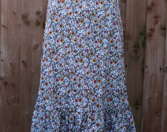 SALE Wild Flower Drop Hem Dress