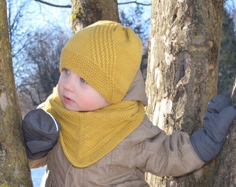 Baby Boy Knit Hat, Spring Toddler Boy Beanie, Kids Beanie, Knitted Toddler Hat, Knit Boys Hat, Merino Wool And Cotton Hand Knitted Hat