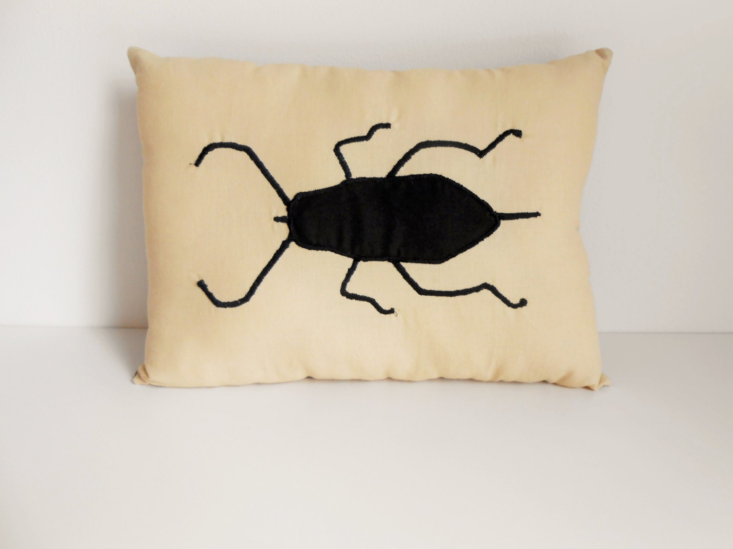 Beetle Insect Throw Pillow Bug Decorative Cushion
