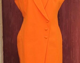 SALE 1980s Orange Madness