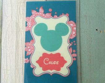 Floral Disney Luggage Tag