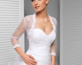 3/4 sleeve Bridal Bolero Wedding Shrug
