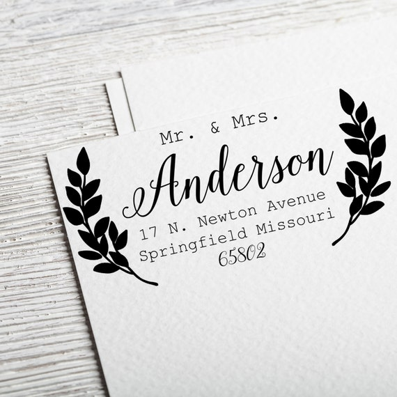 Return Address Stamp Calligraphy Address Stamp By Divinestamps