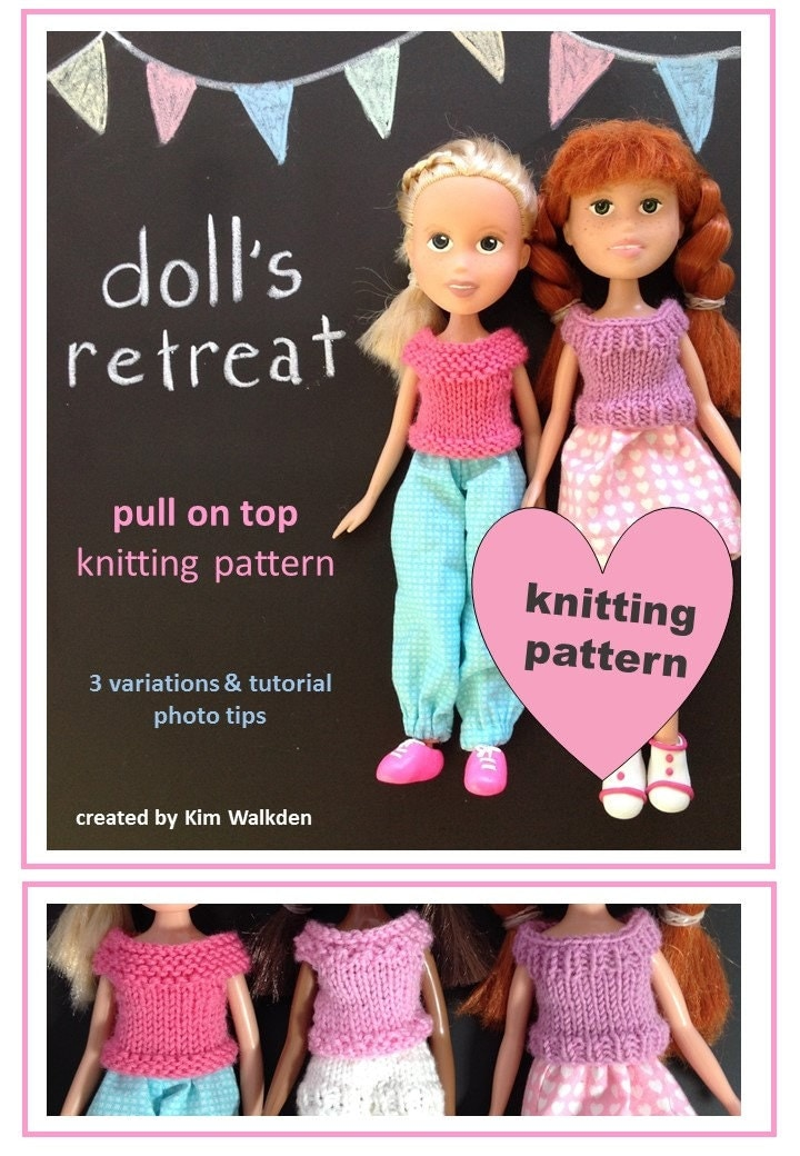 Knitting Patterns For Bratz Doll Clothes : Knitting pattern top for rescued recycled made under Bratz