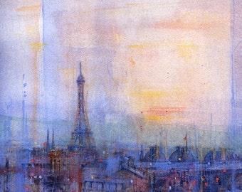 Paris - Evening blue sky on the Eiffel Tower - 87