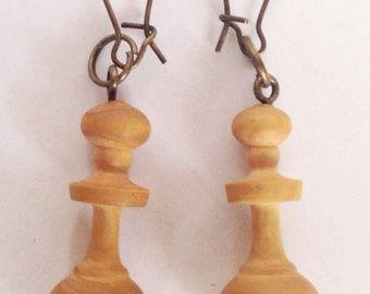 Antique Chess Piece Earrings
