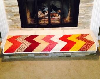 ON SALE! * Chevron Lap Quilt - handmade