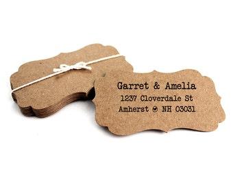 Custom Address Stamp - Personalized Stamp - Weddings - Notecards