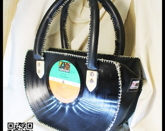 33 RPM vinyl record handmade bag