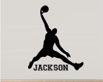 Basketball Man: with Custom Name ~ Wall Decal Sports
