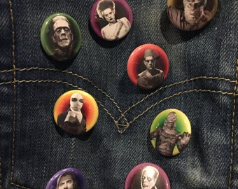 Universal Monsters 1-Inch Buttons (Set of 8)