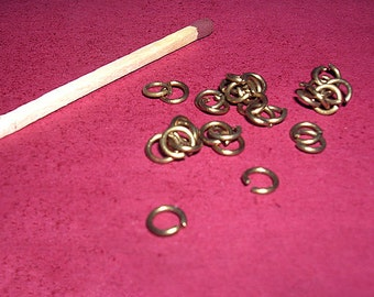 Opened brass rings 9/48 mm, 30g sachet