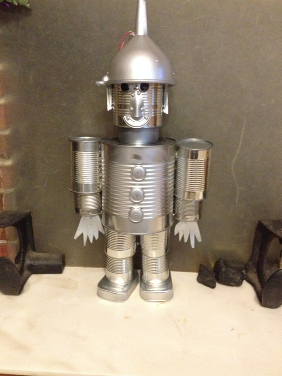Tin can tin man by hobbyhorsecrafts on etsy for Tin man out of cans