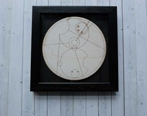 Customised Dr Who Gift - Wooden Gallifreyan Plaque