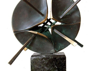 CONTROL - bronze sculpture