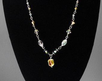 Swarovski Yellow Crystal Necklace