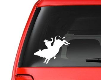 Bull Rider (W13)  Rodeo Vinyl Decal Sticker Car/Truck Laptop/Netbook Window