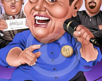 PETER KAY caricature - artwork print signed by artist - 100 print edition - A3 size
