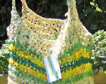 Reusable shopping bag--Plarn Tote #1380
