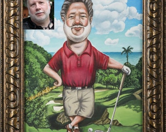 Personalized Painted Caricatures
