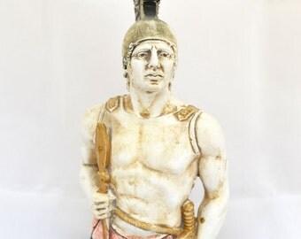 Achilles Ancient Greek Hero of Trojan war sculpture statue bust