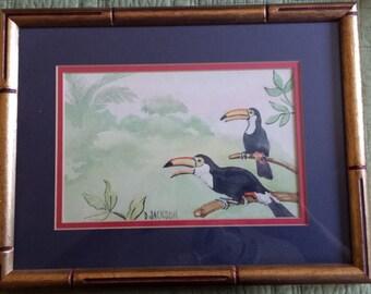 Jungle Tucans - Vintage Watercolor