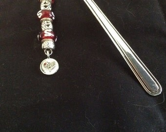 Bookmark with glass beads