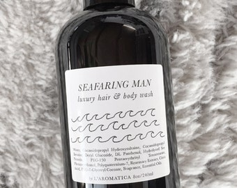 Seafaring Man Luxury Hair + Body Wash - 8oz
