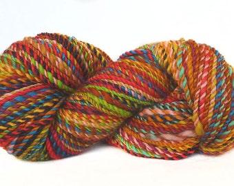 Handspun Yarn handdyed Merino wool