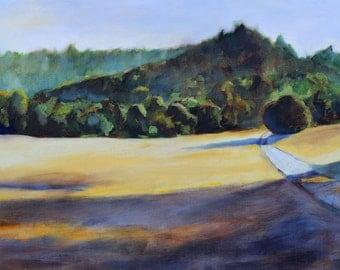 oil painting print California landscape Point Reyes fine art  print
