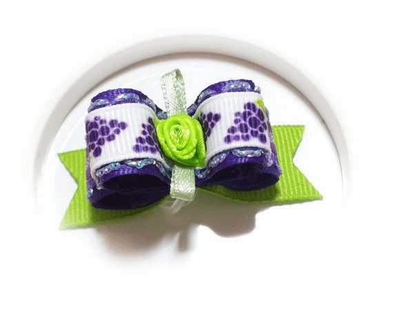 Hair Bows for Dogs, Grapes Pet Bow, Small Dog Bow