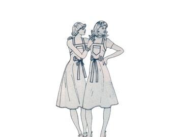 70s uncut Wrap Dress pattern Sundress pattern vintage 34-26.5-36 Jumper pattern Back Wrap Dress pattern simplicity 8005
