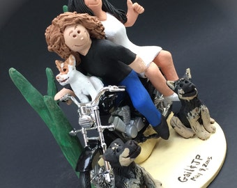 sex wedding cake toppers motorcycle etsy 19762