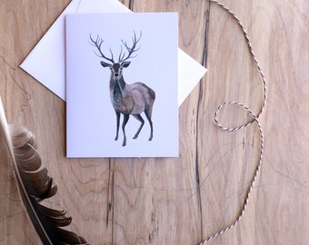 Deer Card Holiday Set - 10 cards - blank cards - stationary - holiday