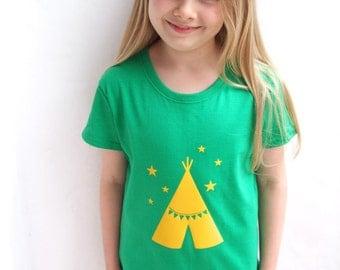 Birthday T shirt With Teepee Print