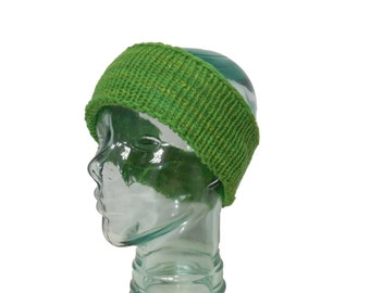 Child's Thick Wool Headband - Grass Green