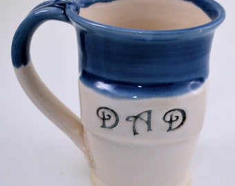 Gift for Dad Wheel Thrown Clay Pottery Mug