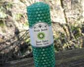 Heart Chakra Rolled Beeswax Candle - Anahata, Fourth Chakra, Energy Clearing, Love, Relationships, Self Acceptance, Compassion, Trust, Peace