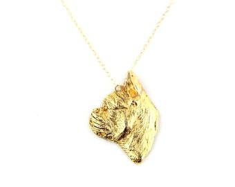 Doghouse - Vintage English Bulldog Brooch Necklace
