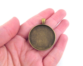30mm brass plated bezel setting, pick your amount, B115