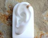 14K Yellow Gold Fill Queens Crown Ear Cuff, Faux Piercing