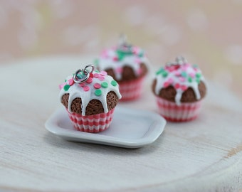 Pink Confetti Cupcake Charm - The New Cupcakes Collection