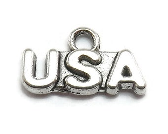 16 USA Charms silver tone metal travel luggage (S420-cnt)