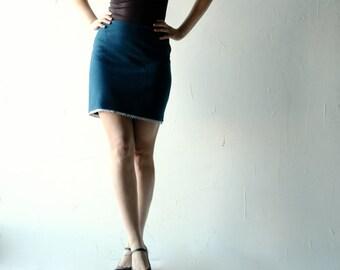 Wool skirt, Blue skirt, Winter skirt, Pencil skirt, Womens clothes, Winter clothes, Aline skirt, knee length skirt, Women clothing, teal