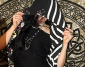 THE EMPIRE Reversible Tribal knit Infinity hood/scarf/vest Victorian Circus Combination