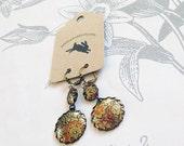 tango - vintage tin earrings